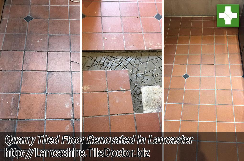 Quarry Tiled Floor Before After Renovation Lancaster