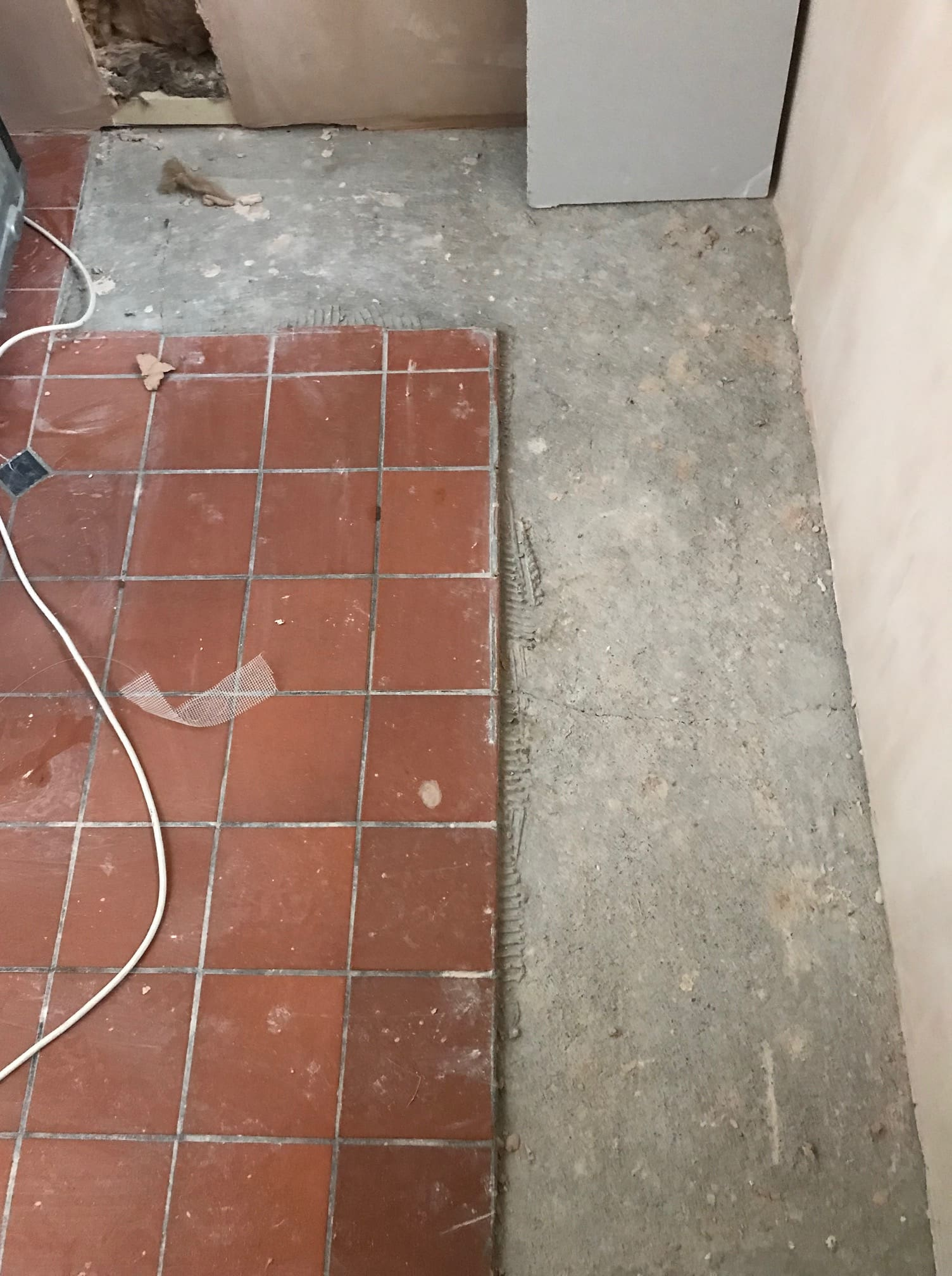 Quarry Tiled Floor Lancaster Before Repair