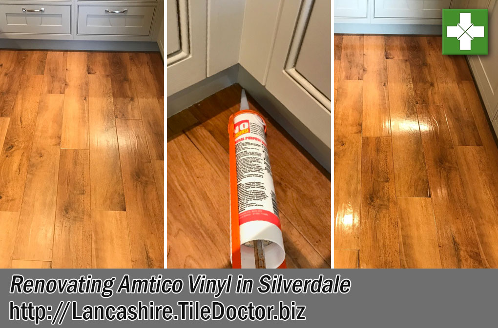 Amtico Vinyl Floor Before After Cleaning Silverdale