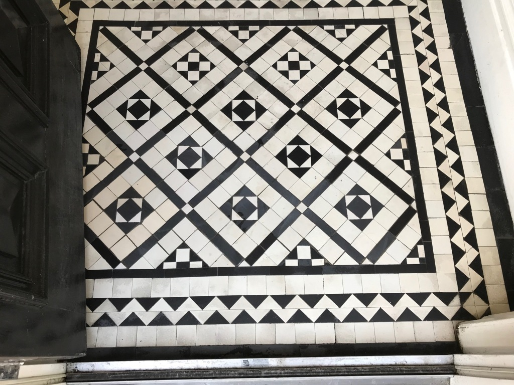 Victorian Tiled Lobby After Rebuild Lytham St Annes