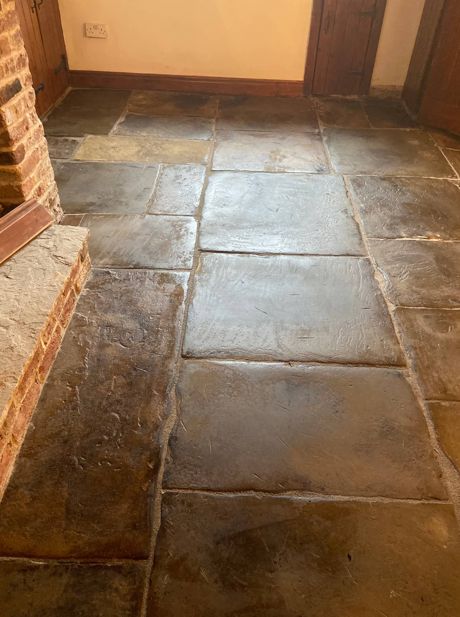 Flagstone-Floor After Restoration in Whalley