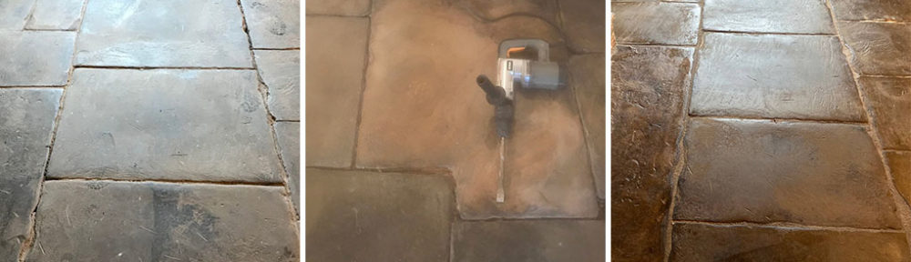 Renovating Flood Damaged Flagstone Floor in a Whalley Listed Building