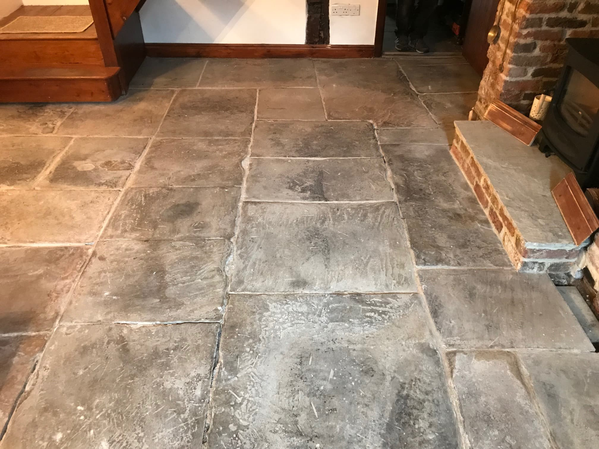 Flagstone-Floor Before Restoration in Whalley