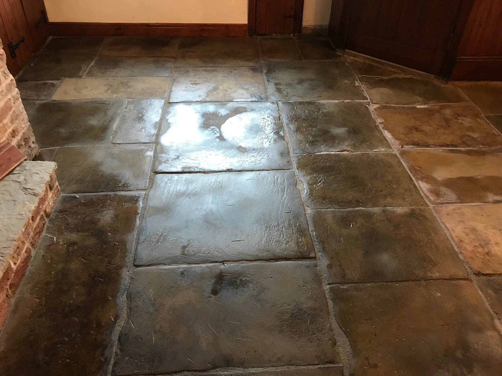 Flagstone-Floor During Restoration in Whalley