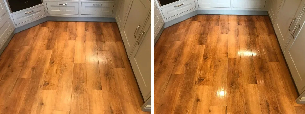 Amtico Floor Silverdale Before and After Cleaning