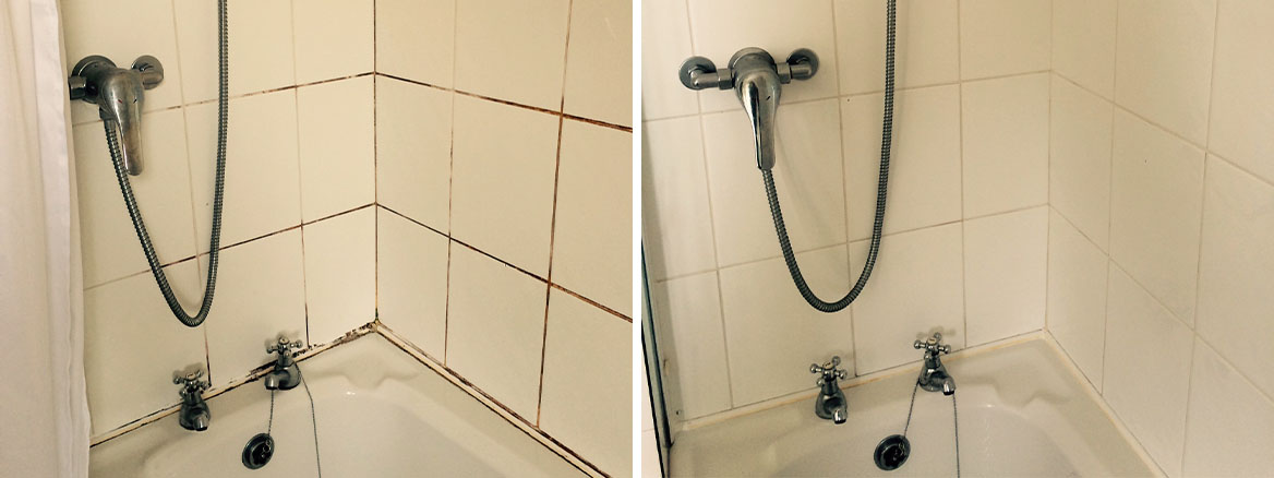 Cleaning and Sealing a Mouldy Ceramic Tiled Shower in Galgate