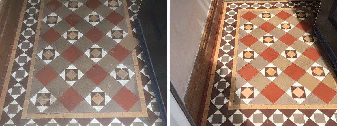 Original Edwardian Tiles Refreshed and Revitalised in Lytham St Annes