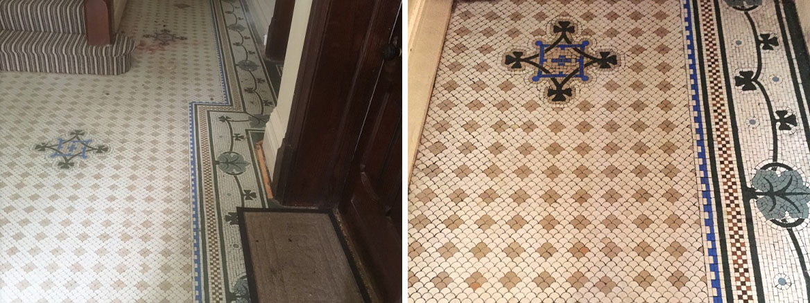 100+ Year-Old Victorian Mosaic Hallway Rejuvenated in Lytham St Annes