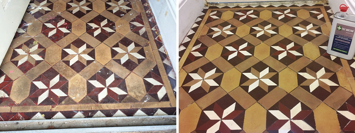 Victorian Tiled Hallway Restored to New in Lancaster