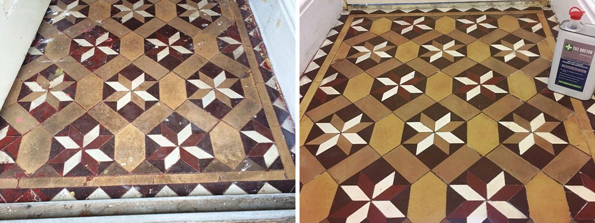 Victorian floor Tile Vestibule Lancaster Before and After