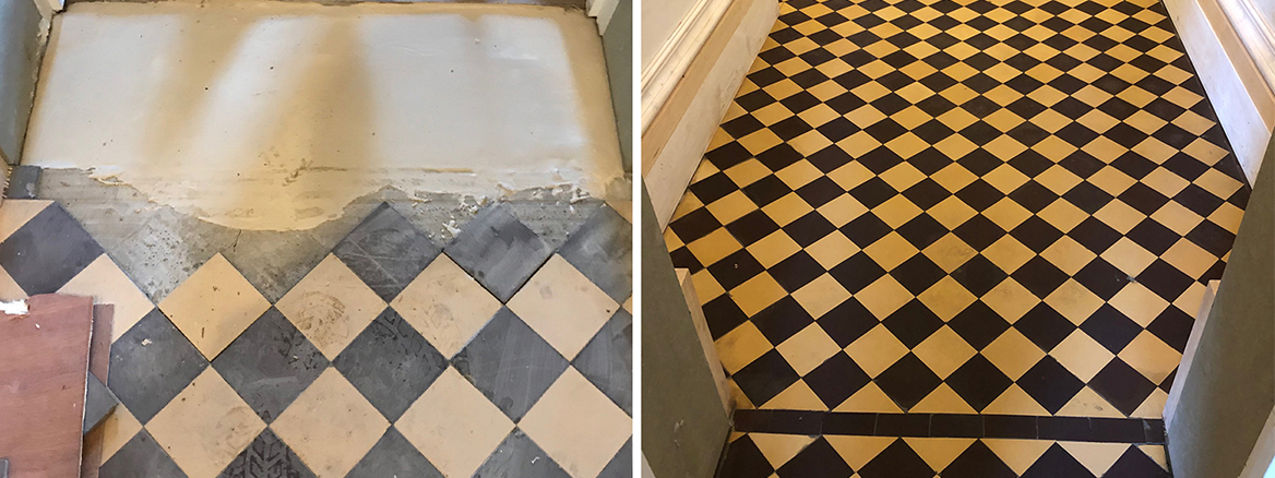 Victorian Hallway Rebuilt and Restored in a Lancaster
