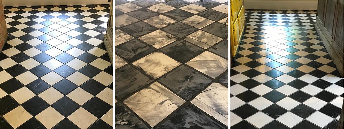 Italian Marble Kitchen Floor Renovated in Bamber Bridge