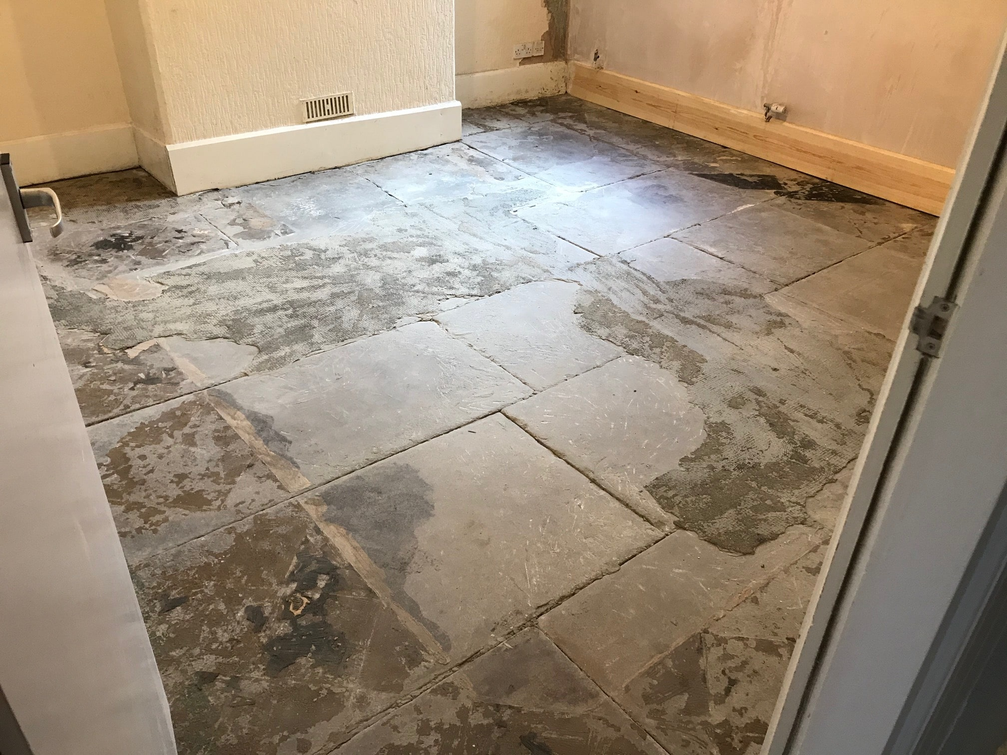 Flagstone Floor Before Renovation Carnforth