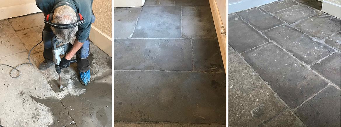 Old Flagstone Floor Restoration in Carnforth