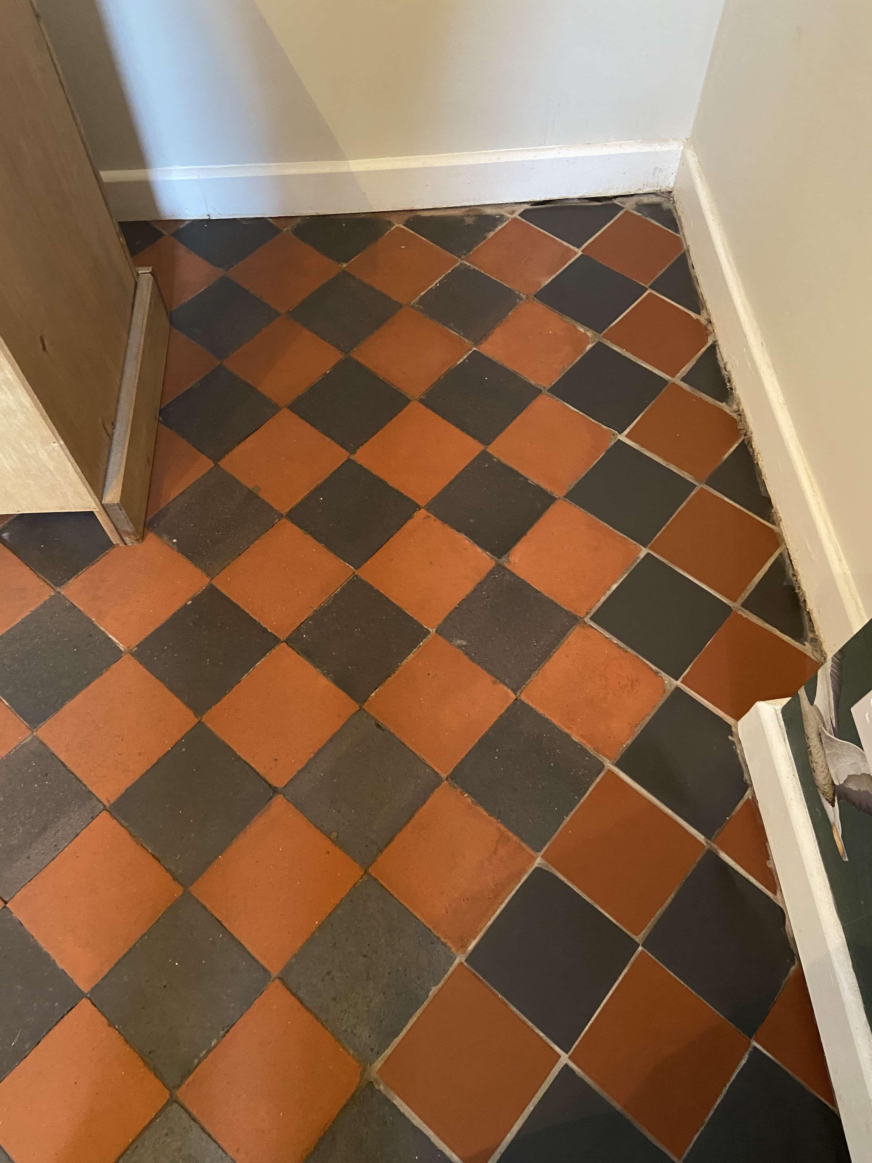 Victorian Black and Red Floor After Restoration Lancaster