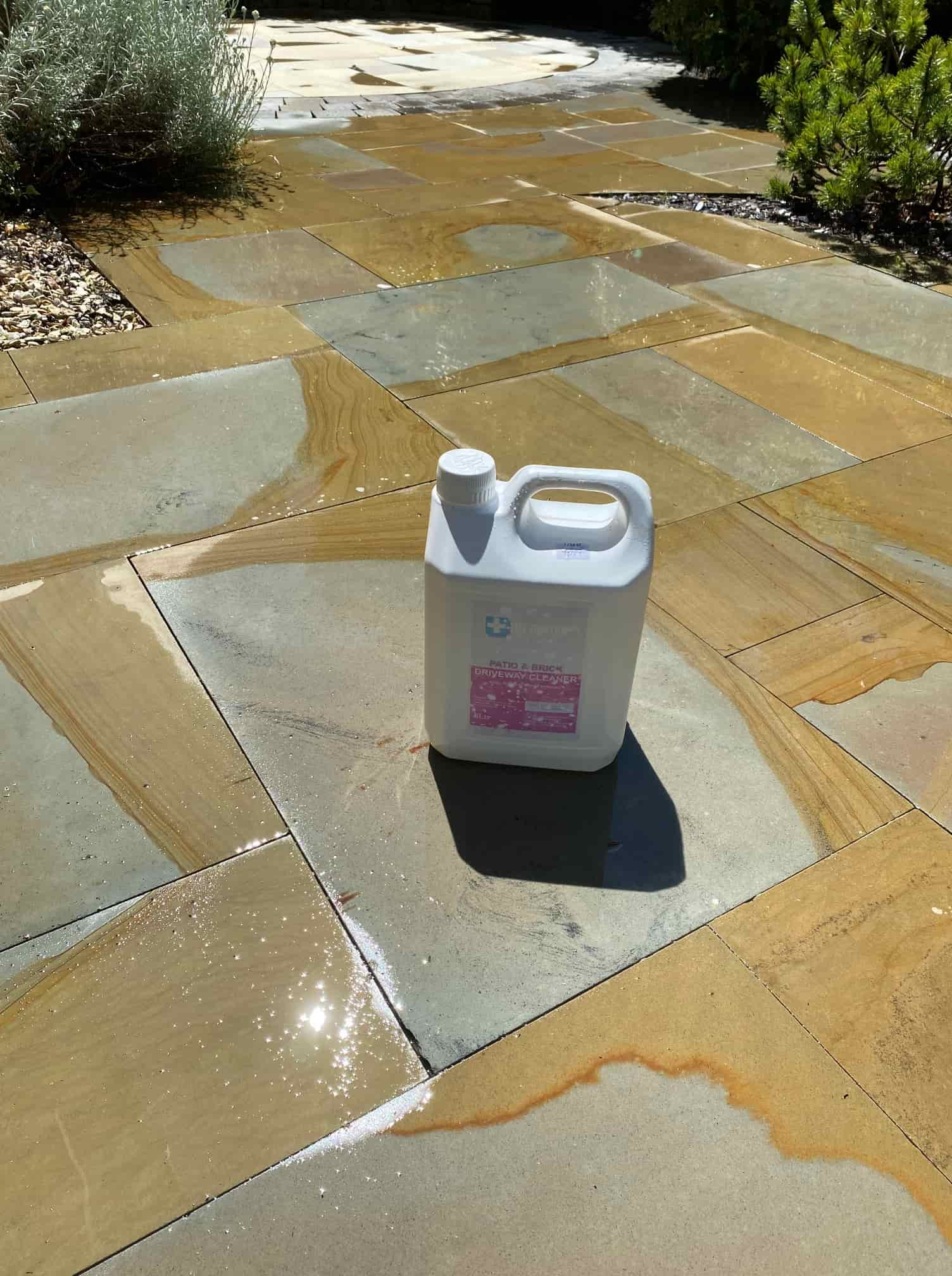 Indian Sandstone Patio After Cleaning in Bolton-Le-Sands