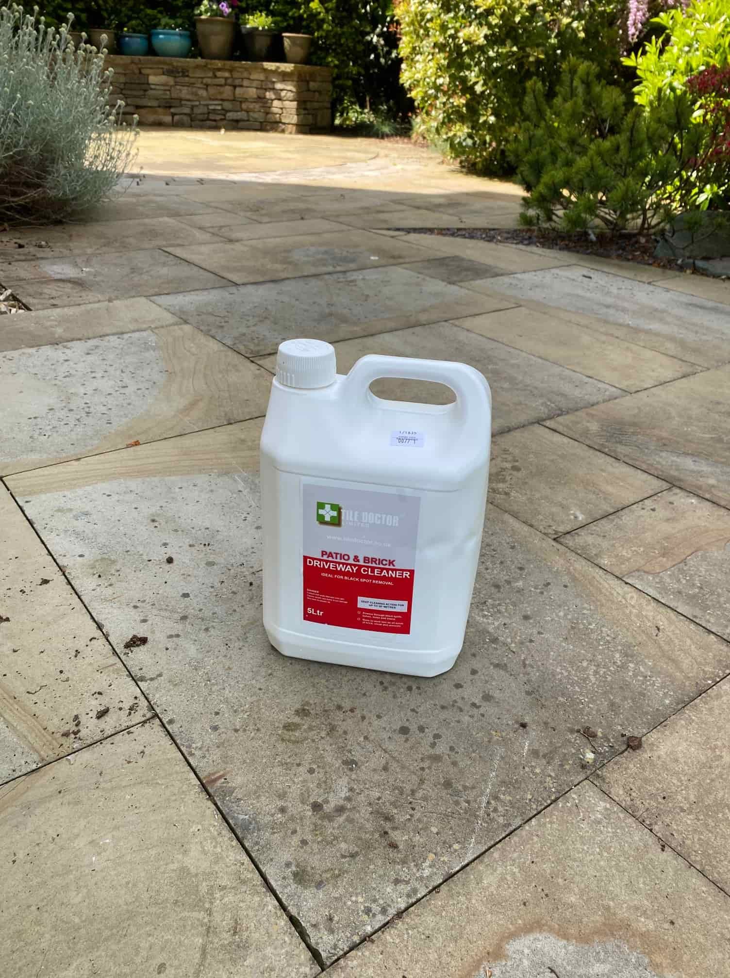Indian Sandstone Patio Before Cleaning in Bolton-Le-Sands
